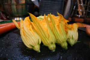 Seasonal Squash Blossoms