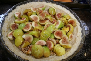 Prepared tart prior to adding custard.