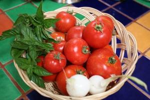 Fresh ingredients from the garden!