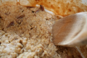 Warm Oatmeal Date Pudding